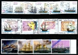 14 Timbres Oblitérés Divers Pays Voiliers Bateaux Ships Sea Marine - Boites A Timbres