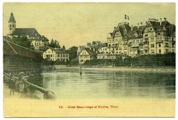 LA SUISSE : THUN - HOTEL BEAURIVAGE ET KIRCHE / ADDRESS - LIVERPOOL, WAVERTREE, GREEN LANE - BE Bern