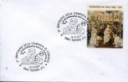 50265 Italia, Special Postmark 2019 Paternò Catania, 5th Centenary Death Of Leonardo Da Vinci - Arte