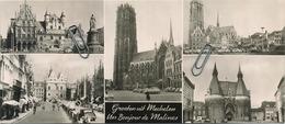 Mechelen :  Panorama Kaart :  Groeten Uit - Mechelen