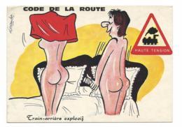 HUMOUR - SIGNEE ALEXANDRE CARTE ECRITE -voir Detail Annonce - Humor