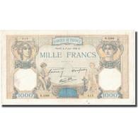 France, 1000 Francs, Cérès, 1938, 1938-06-02, TB, Fayette:38.17, KM:90c - 50 F 1934-1940 ''Cérès''