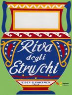 Voyo RIVA DEGLI ETRUSCHI S.Vincenzo Italy Hotel Label  Sticker 1980s Vintage - Etiquettes D'hotels