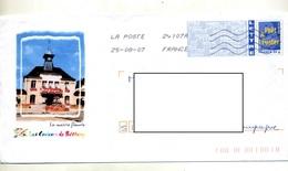 Pap Logo Bleu Flamme Chiffree Illustré Mairie Betheny - Biglietto Postale