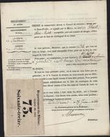 Convocation Conseil De Révision Militaria Tirage Au Sort N°34 1833 France + Ticket Tirage Au Sort 1862 N°73 - Biglietti D'ingresso