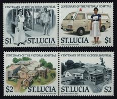 St. Lucia 1987 - Mi-Nr. 899-902 ** - MNH - Krankenhaus / Hospital (I) - St.Lucia (1979-...)