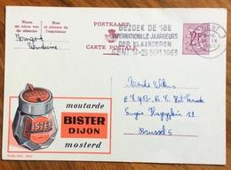 ALIMENTAZIONE  MOSTARDA MOSTERD BISTER DIJON...-  ADVERTISING PUBBLICITA' SU CARTE POSTALE BELGIQUE - Lettere