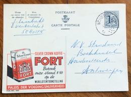 ALIMENTAZIONE  CAFFE'  KOFFIE FORT ..-  ADVERTISING PUBBLICITA' SU CARTE POSTALE BELGIQUE - 1864-04 (Christian IX)