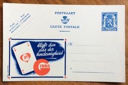 CARTA DA GIOCO ...IBBS ...-  ADVERTISING PUBBLICITA' SU CARTE POSTALE BELGIQUE - Lettere