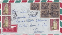 Portugal 1963 Air Mail Cover: Definitives Knight On A Horse; Religion; Day Of Stamp - Portugal