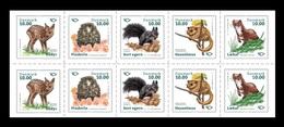 Denmark 2020 Mih. 1997/2001 Fauna. Mammals. Roe Deer. Hedgehog. Black Squirrel. Dormouse. Stoat (M/S) MNH ** - Danimarca