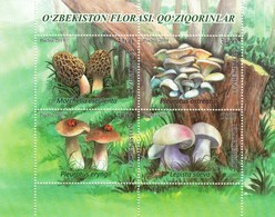 Uzbekistan 2019 Flora Mushrooms SS Of 4v MNH - Hongos