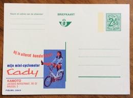 MOTOCICLETTE   CYCLOMOTOR CADY.... .-  ADVERTISING PUBBLICITA' SU CARTE POSTALE BELGIQUE - Lettere