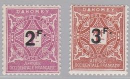 DAHOMEY   :  Yvert   Taxe 17-18    Neuf XX   Cote 18 € - Unused Stamps