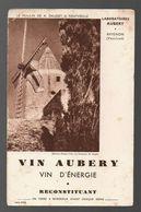 Buvard Vin Aubery Vin D'énergie - Le Moulin De A. Daudet à Fontvieille - Papel Secante