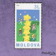 [ Europa ] MOLDOVA 2000 Mi.363 Children & Stars Joint Issue >50 Countries / 1v (MNH **) - 2000