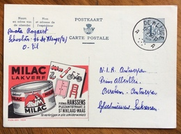 MILAC   LAKVERF  FIRMA Firma HANSSENS.... .-  ADVERTISING PUBBLICITA' SU CARTE POSTALE BELGIQUE - 1864-04 (Christian IX)