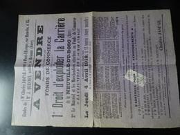 LA NEUVILLE Du BOSC (Eure) Affiche Vente Fond De Commerce Du 4 Avril 1918 - Affiches