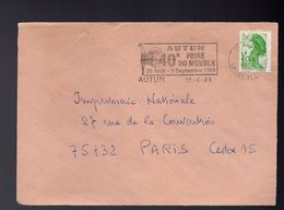 FRANCE -  AUTUN - FOIRE DU MEUBLE 1989 - Fabbriche E Imprese