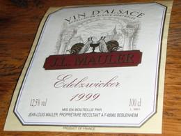 étiquette Vin Alsace Edelzwicker Beblenheim J.L.MAULER Escargots - White Wines