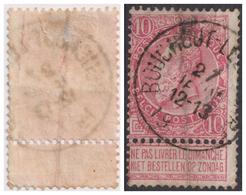 """91-  COB/OBP 58 (o)""""Bouchout-lez-lierre""""+8 (Pli Accordeon/Accordeonplooi) - 1893-1900 Schmaler Bart"""