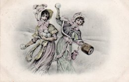 99Avi  Art Déco Nouveau Bataille Boules Neige Femmes Robes Mousseline Chapeau Mode Fashion - Illustrateurs & Photographes