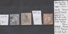 TIMBRES D ALLEMAGNE DEUTSCHES REICH  OBLITEREES 1872-1902 Nr 26-69 I VARIETE (FELD 35-90 )-29 COTE   200   € - Allemagne
