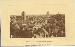 EURE ET LOIR 28  -  DREUX  - VUE GENERALE PRISE DU CHATEAU  - EDITION DE L'HOTEL DU GRAND CERF - Dreux