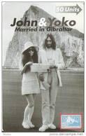 Nº 42 TARJETA DE GIBRALTAR DE JOHN LENNON Y YOKO (NUEVA-MINT) - Gibraltar