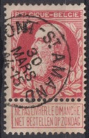 "95-  COB/OBP 74 (o)""Mont-saint-Amant"" +4 - 1905 Breiter Bart"