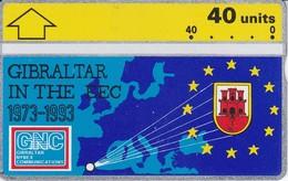 Nº 22 TARJETA DE GIBRALTAR DE LA COMUNIDAD EUROPEA  (NUEVA-MINT) - Gibraltar