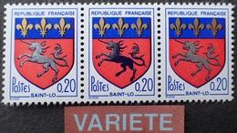 R1949/1691 - 1966 - BLASON DE SAINT-LO - N°1510 TIMBRES NEUFS** - BELLE VARIETE ➤➤➤ Licorne ARGENT Et NOIRE - Variétés Et Curiosités