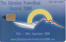 Nº 85 TARJETA DE GIBRALTAR DE POWERBOAT FESTIVAL - Gibraltar