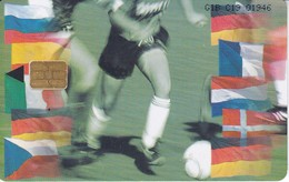 Nº 86 TARJETA DE GIBRALTAR DE EUROPEAN CHAMPIONS (FUTBOL-FOOTBALL) - Gibraltar