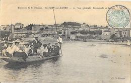 Environs De St Etienne, Saint-Just-sur-Loire Vue Générale, Promenade En Barque - Carte J.V. - Saint Just Saint Rambert