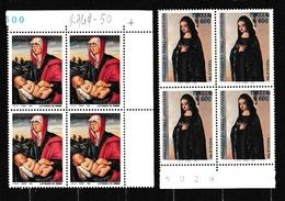 1994 Italia Italy Repubblica NATALE CHRISTMAS 4 Serie Di 2v. MNH** Quartina Bl.4 - Food