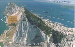 TARJETA DE GIBRALTAR BIRDS EYE-VIEW OF THE ROCK FROM THE NORTH 8 POUNDS - Gibraltar