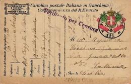 "Cartolina In Franchigia ""verificata Per Censura"" Del 27-12-1917 - 1900-44 Victor Emmanuel III"