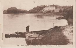 Maine  Et  Loire :  CHALONNES  Sur LOIRE :  La   Loire ,  Vers   Candais  , Barque , Pêche, Timbre,Versailles  Arrivée - Chalonnes Sur Loire