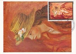 Carte Maximum Peinture 1974 Renoir Congo - Congo - Brazzaville