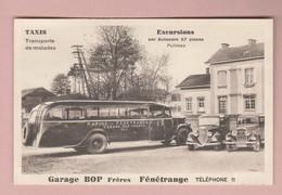 CPA 57 Fénétrange Garage BOP Taxis Bus Autos Excursions Exp. 28.04.1937 - Fénétrange