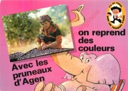 Carte Publicité Pour  AVEC LES PRUNEAUX D'AGEN ON REPREND DES COULEURS . - Advertising
