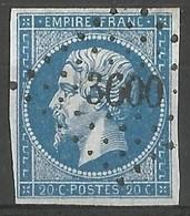 FRANCE - Oblitération Petits Chiffres LP 3600 LA VILLEDIEU-DU-CLAIN (Vienne) - Marcophilie (Timbres Détachés)