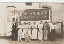 CARTE PHOTO:GROUPE DE BOULANGERS BOULANGERIE DU MOULIN DE LA GOËSSE ÉPERNAY (51) - Epernay