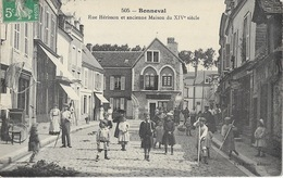 Bonneval (Eure Et Loir) Rue Hérisson Et Ancienne Maison Du XIVe Siècle - Edition Vve Fréon - Carte Animée N° 505 - Bonneval