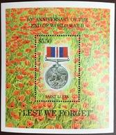 St Lucia 1995 World War II Anniversary Minisheet MNH - St.Lucia (1979-...)