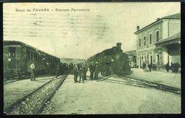 RB378 FAVARA - STAZIONE FERROVIARIA - Estaciones Con Trenes