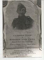 Véritable Photographie De La Tombe De Yvon Paul, Instituteur à Mâcon Et Mort Au Combat Le 18 Mars 1918. - Guerra, Militares