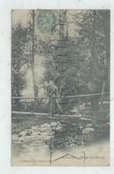 Riorges (42) : Le Passage à Dos D'homme Sur La Passerelle Sur Le Renaison En 1905 (animé) PF - Riorges