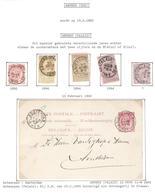 REF216/ TP 46-47-48(2)-68 + Entier CP 10c C.Anvers (Palais) > Amsterdam - 1884-1891 Leopold II